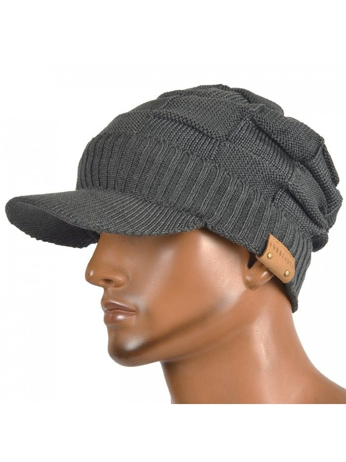 91a061a5849 Men s Knit Cable newsboy Cap Cadet Cabbie Peak Cap Winter Hat ...