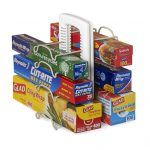 StoreMore WrapStand $39.99 The WrapStand organises aluminum foil, plastic wrap, wax and parchment paper in the cabinet or pantry.