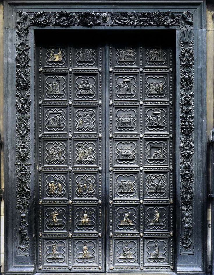 """South Doors,"" Commissioned by Arte del Calimala from Andrea Pisano. 1330-36."