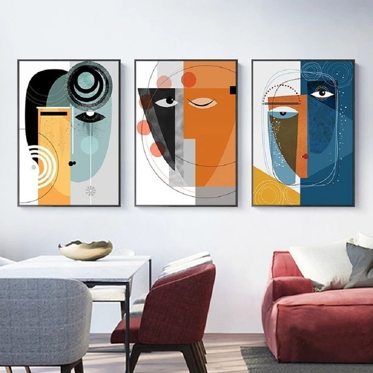 Modern, abstract paintings have always been a sure bet to make a statement on the walls without overwhelming the space. The beauty of these art prints, besides the sophisticated statement it makes, is that it never goes out of style, and the shapes and colors complement any kind of interior. #art #modern #abstract #contemporary #minimalist #loft #wallart #walldecoration #homedecor #canvas #prints #interiordesign #design #canvasart