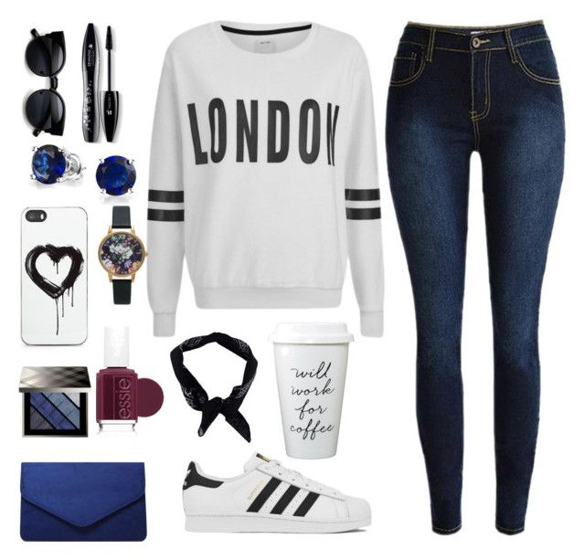 """Let's Go To London"" by ahriraine ❤ liked on Polyvore featuring ONLY, Lancôme, adidas, Zero Gravity, Burberry, Dorothy Perkins, Bling Jewelry, Essie, Olivia Burton and Boohoo"