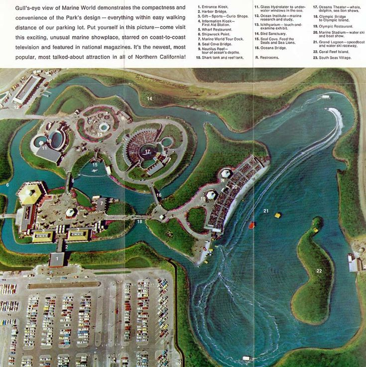 166 best theme park maps images on pinterest theme park map marine world became a six flags park in valequoca the original marine world property now houses oracles headquarters gumiabroncs Images