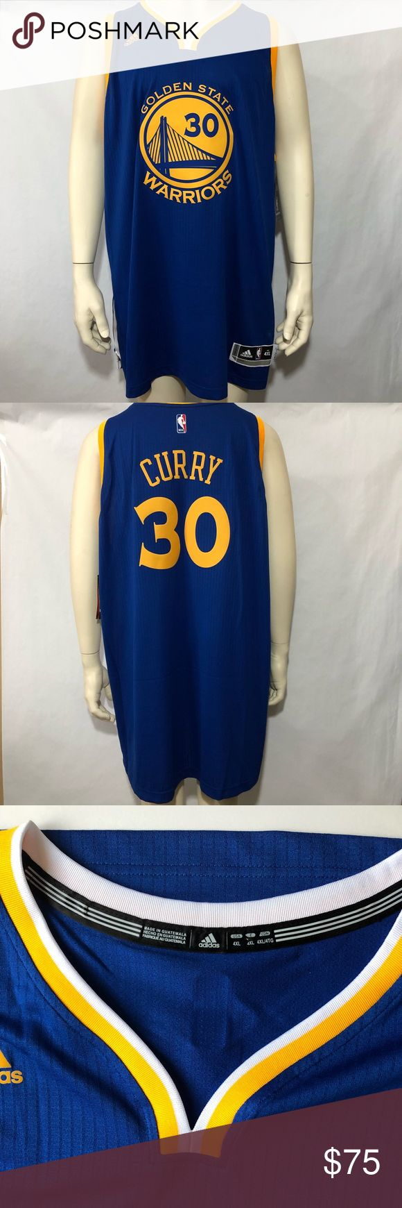Adidas Swingman Golden State Warriors Steph Curry New With Tags See Picture For Details. Adidas Swingman Golden State Warriors Royal Player Steph Curry #30. adidas Shirts Tank Tops