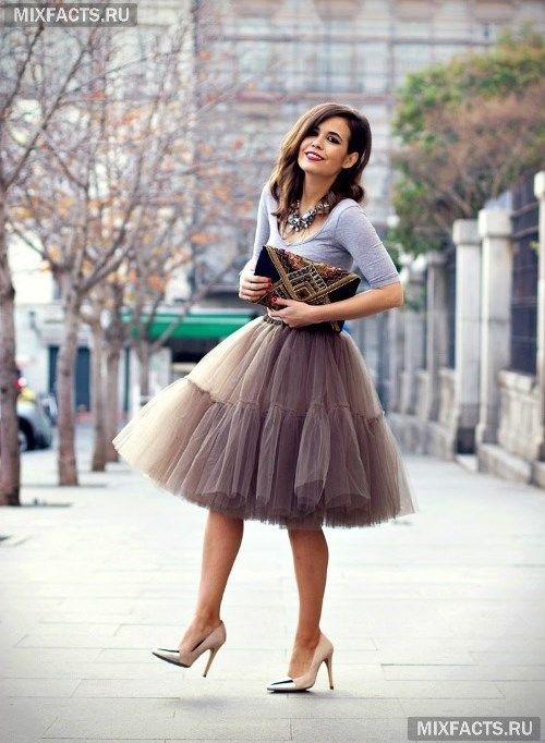 С чем носить юбку-пачку?