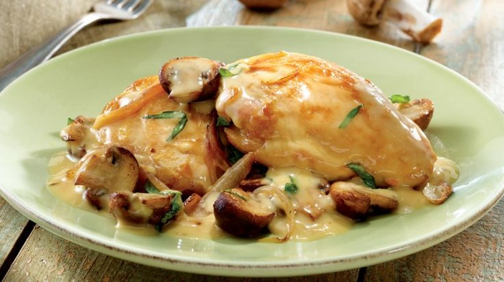 Κοτόπουλο στο τηγάνι με μανιτάρια και κρέμα γάλακτος για ένα γευστικότατο πιάτο