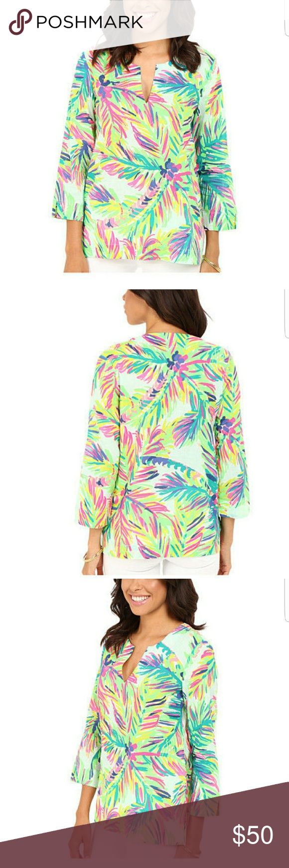 Lily Pulitzer Amelia Island Tunic NWT The print is called Island Time.  New with tags. Smoke free home. Lilly Pulitzer Tops