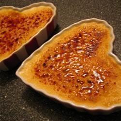 Creme Brulee, Perfektes Dessert Für Den Valentinstag Weil Man Es Komplett  Vorbereiten Kann. Das