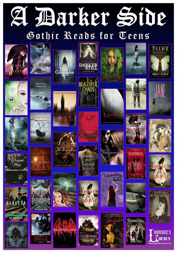 #booklistteen A Darker Side: Gothic Reads for Teens