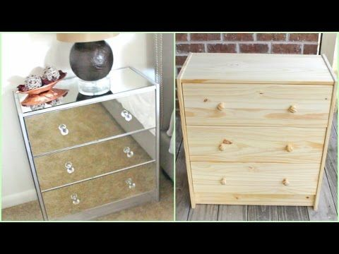 www.diybeautytutorials.com 2016 03 diy-mirrored-nightstand-no-hammering-drilling-etc-required.html