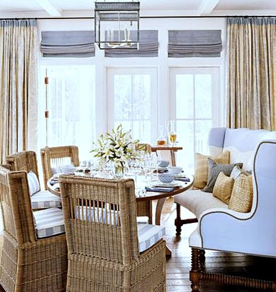 I would love for you to have a curved dining bench on the window side of your kitchen table.