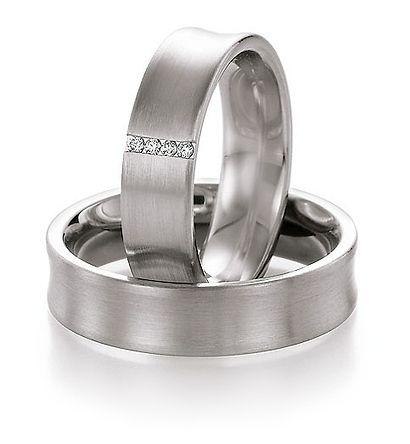 Populaire  palladium trouwringen goedkoop en met diamant! Palladium trouwringen goedkope actie ringen bij Trouwringenvoordeel.nl 50% Goedkoper dan bij de juwelier - € 895,00