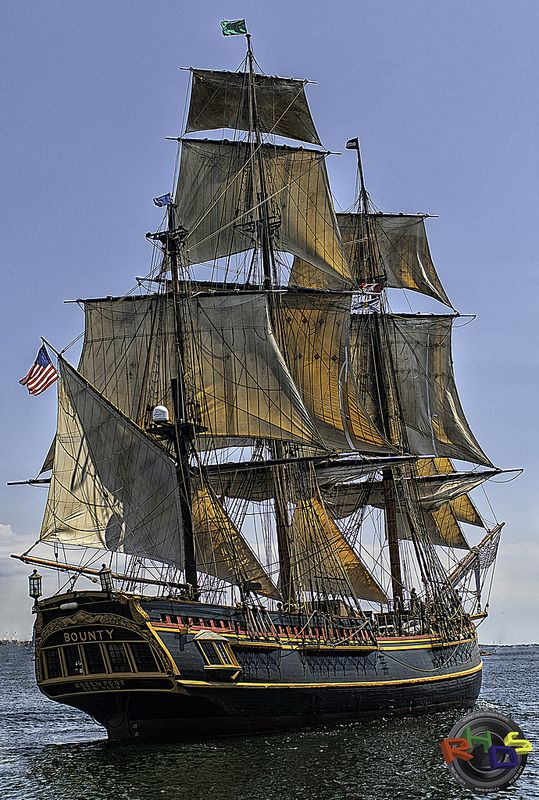 The HMS Bounty Tall Ship - Halifax Harbour