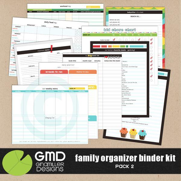 Family Organizer Binder Kit: Pack 2