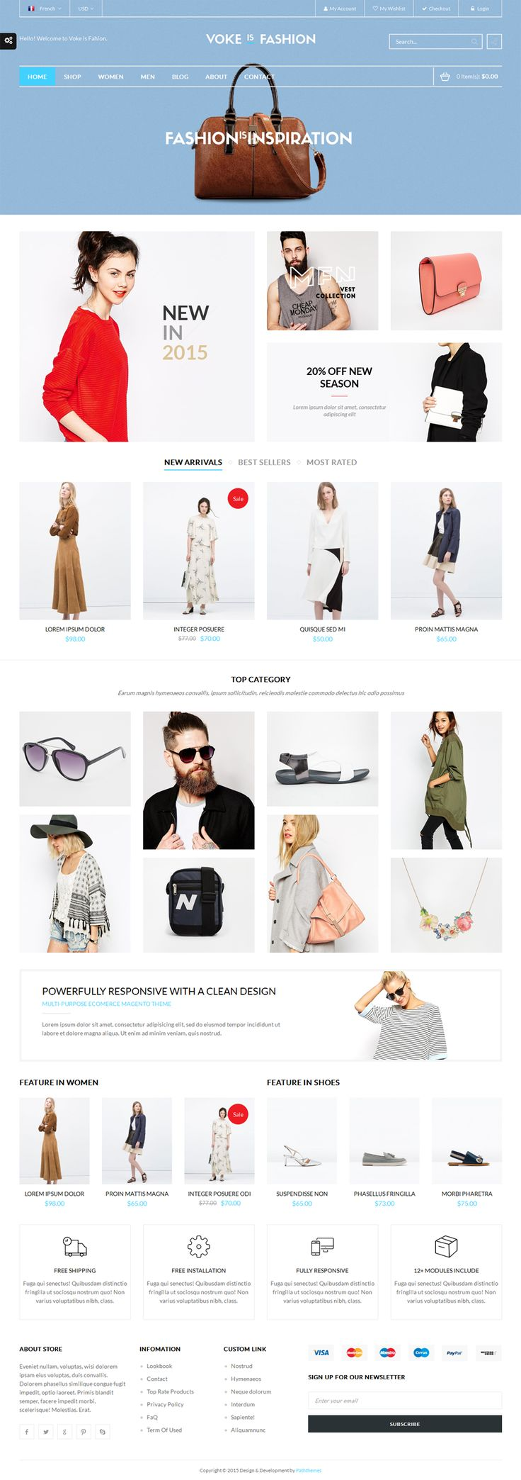 Voke – Multipurpose Responsive Magento Theme on Inspirationde
