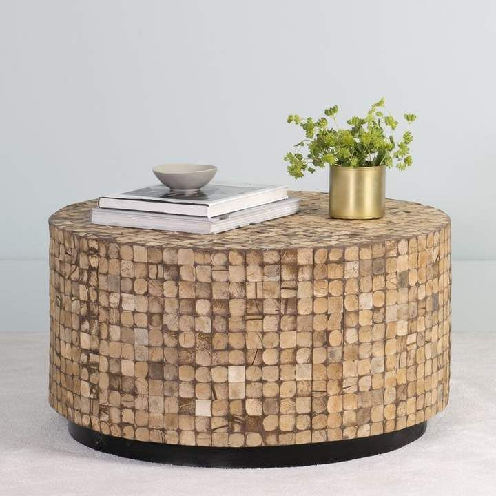 Beachcrest Home Sherlyn Coffee Table Home Designs In 2019 Round Coffee Table Cube Coffee Table Ottoman Table