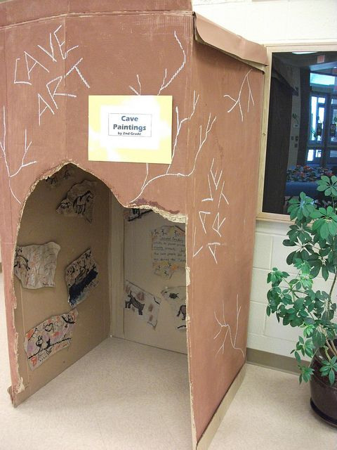 "AFTER the ""cave"" is used for hibernation, it can be used for cave paintings done by cave kids!                                                 2010 Elementary Art Show 