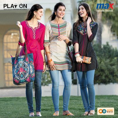 Fun College #StreetWear  - Chic Kurtas with Jeans and big bags