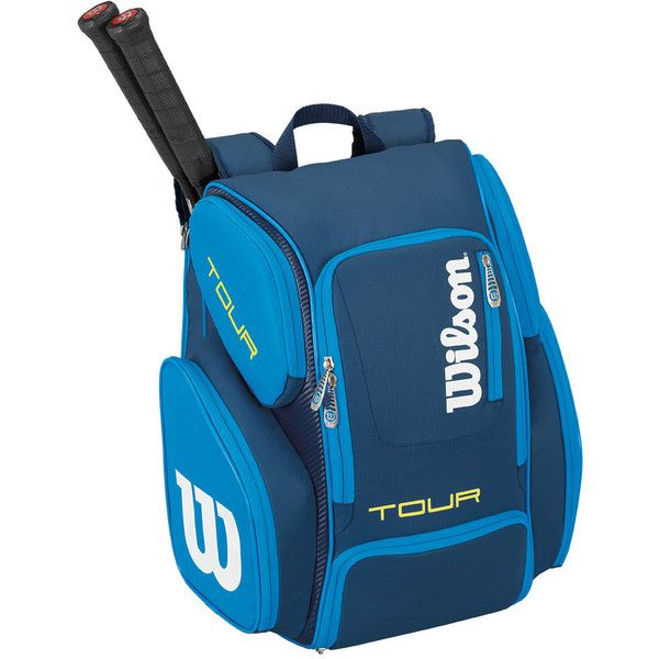 The Wilson Tour V Large Tennis Backpack Blue makes for the perfect bag for your tennis gear needs. It has plenty of space to store 2 racquets, a large compartment to hold apparel and shoes, and a large pocket to store all of your tennis accessories and equipment. There's also a small accessory pocket to hold you personal belongings.