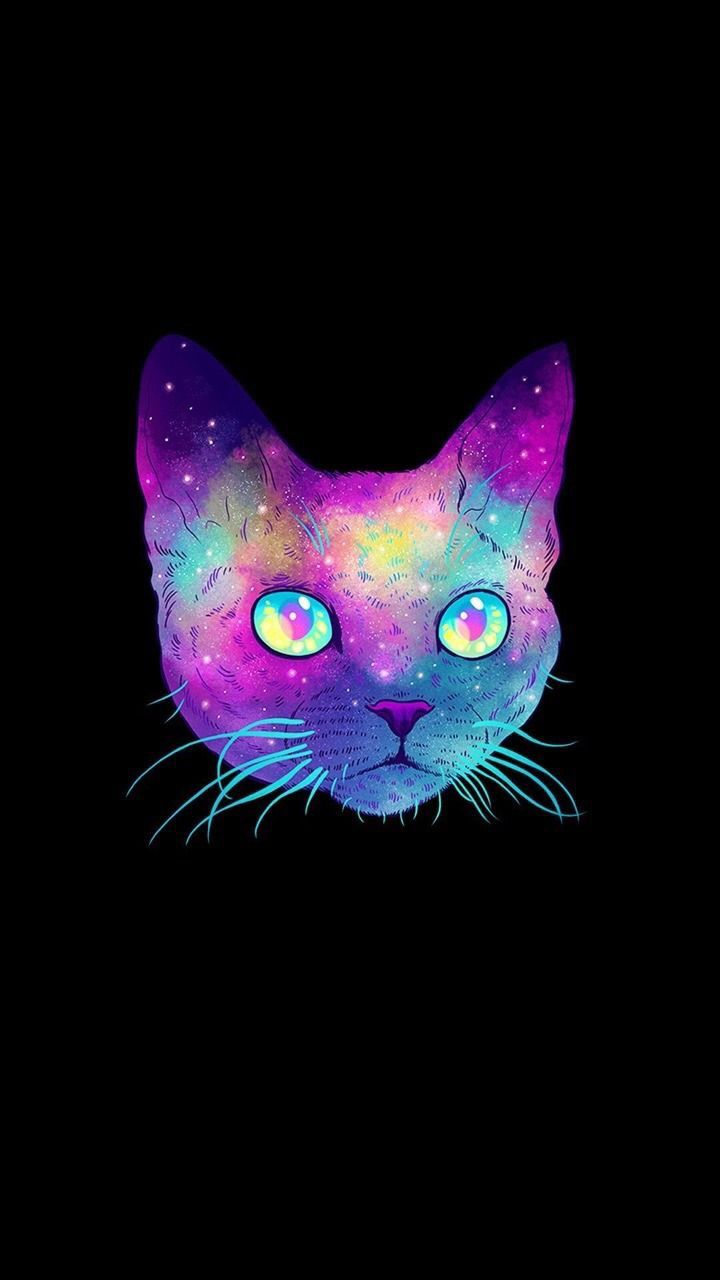 Wallpaper Phone Background Cat Wallpaper Space Cat