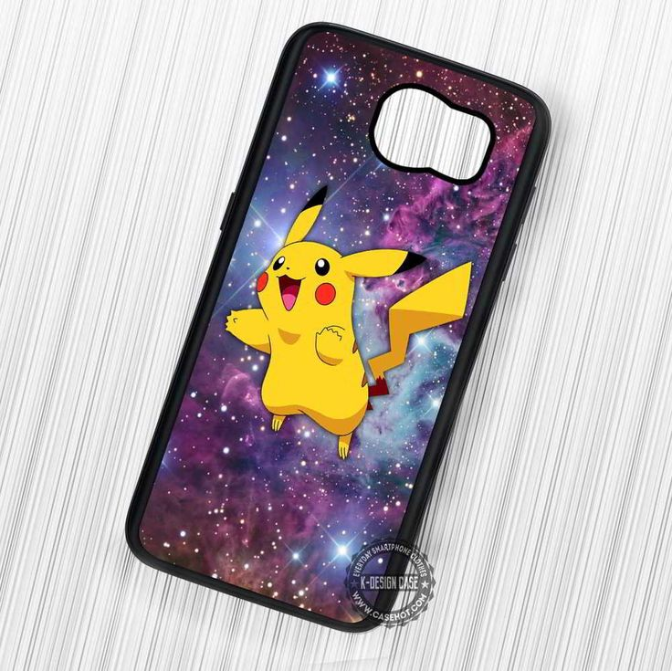 Cute Pikachu Pokemon Galaxy Nebula - Samsung Galaxy S7 S6 S5 Note 7 Cases & Covers