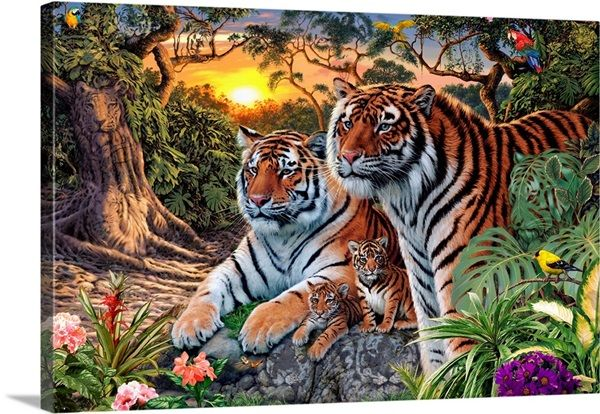 Tiger Family In 2021 Tiger Pictures Hidden Images Jungle Animals