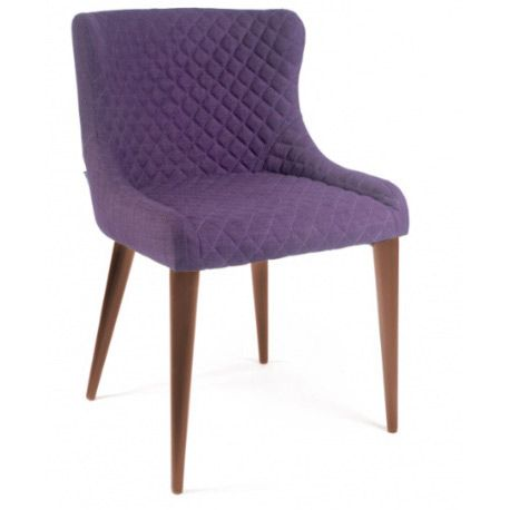 Дизайнерский Стул CINDY темно-фиолетовый ножки под дерево от Deephouse!