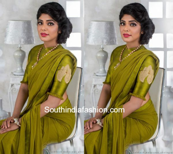 rima kallingal in poornima indrajith saree