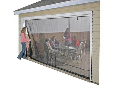 Shelterlogic 16x7 garage screen with roll up pipe by for Roll down garage door screen