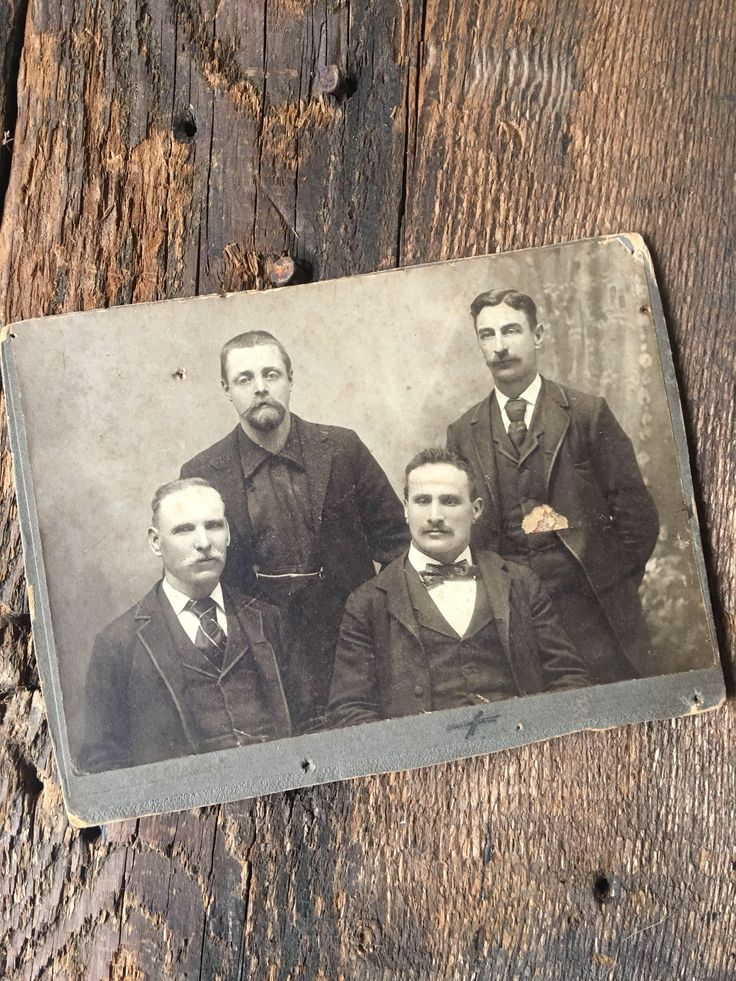 A personal favorite from my Etsy shop https://www.etsy.com/listing/576834599/antique-photo-four-men-men-western-wild