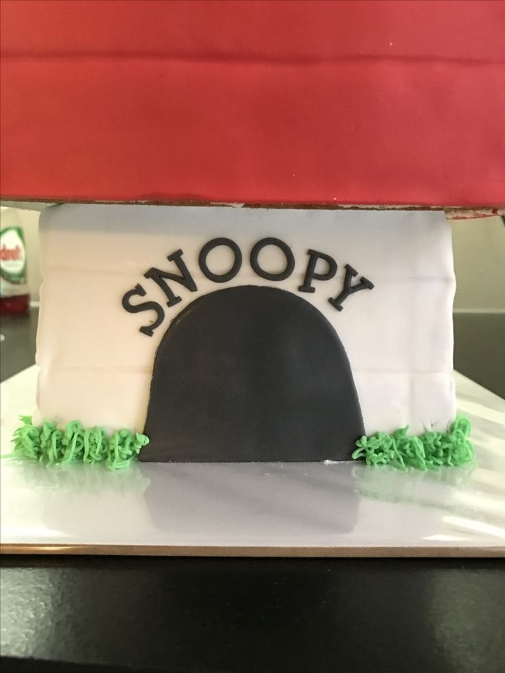 Snoopy taart, februari 2016
