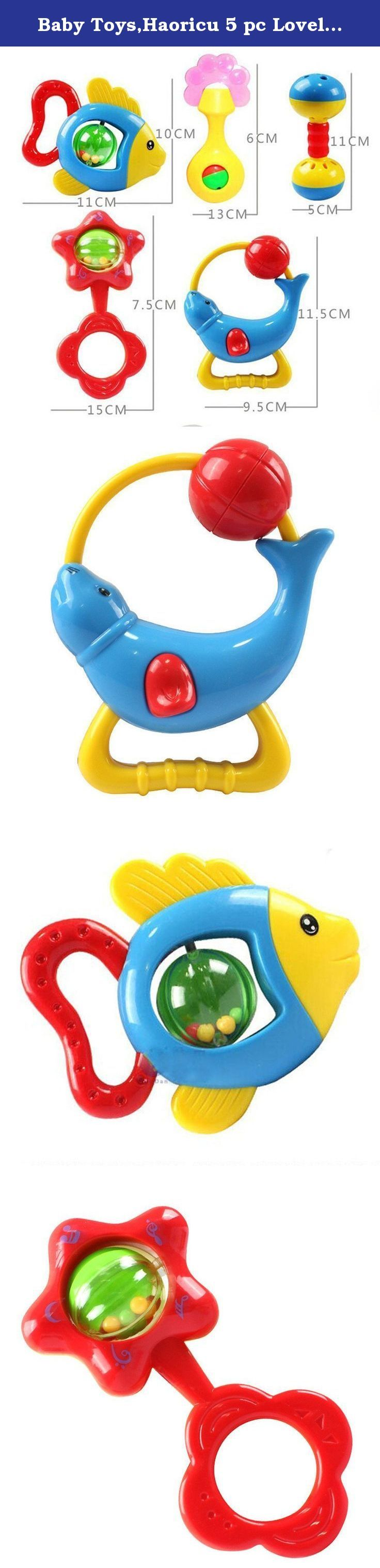 Baby Toys,Haoricu 5 pc Lovely Animal Handbells Developmental Kids Baby Toy Bells. Feature: ✪ 100% brand new and high quality. ✪ Quantity: 5 pc ✪ And each piece of metal knock voice is different. ✪ Can Inspire children's talent for music. ✪ Bright colors increase the kids sensitive to colors. ✪ Suitable for 6 months to 7 years old baby / kids. ✪ Material:Plastic ✪ Recommended Age:6 months- 7 years Package Content:: ✪1X Animal Handbells Developmental Toy Bells Kids Baby Rattle Lovely.
