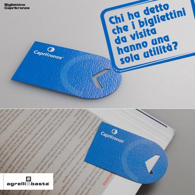 Biglietto da visita / Segnalibro, realizzato per marchio di orologi.