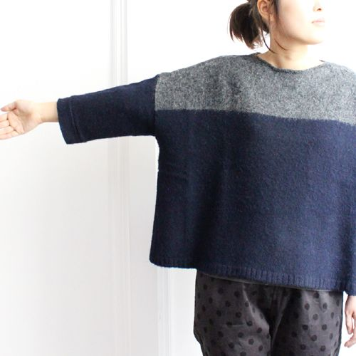 mao made color block sweater