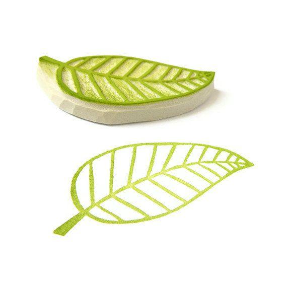 Sweet Leaf Rubber Stamp - Spring Rubber Stamp - Cling Rubber Stamp