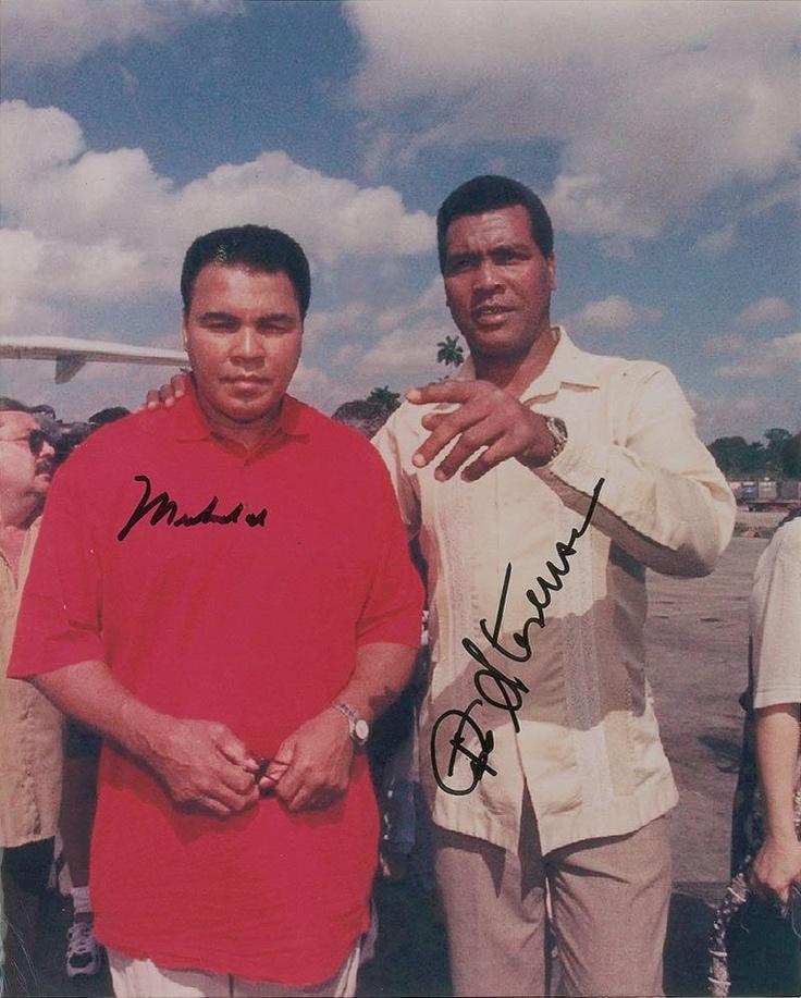 Teofilo Stevenson, here pictured with the great, Muhammad Ali.