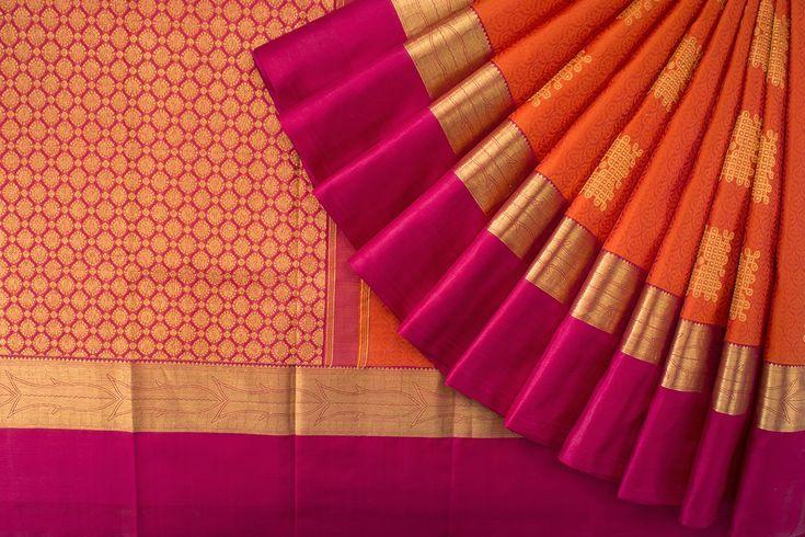 Tharakaram Handwoven Kanjivaram Silk Sari 1024284 - Sari / Bridal - Parisera