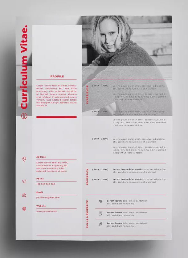 Resume Design Templates Ai Eps Design In 300 Dpi Resolution A4 Paper Size Download In 2020 Resume Design Template Graphic Design Resume Resume Design