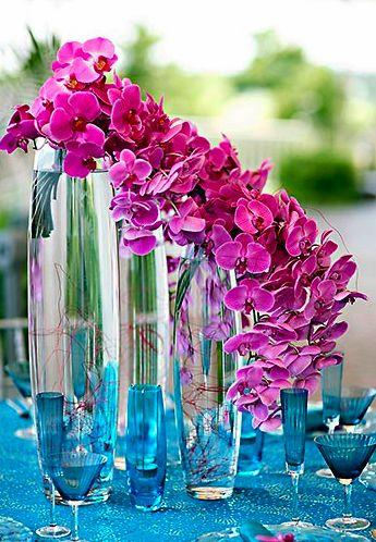 84.- Centros de Mesa con Orquídeas