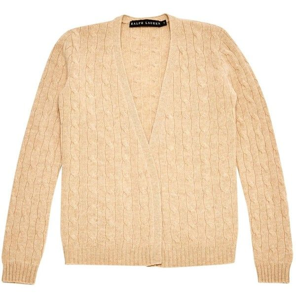 Pre-owned Lauren Ralph Lauren Cashmere Knitwear ($159) ❤ liked on Polyvore featuring tops, beige, women clothing knitwear, lauren ralph lauren tops, beige top, sleeve top, beige long sleeve top and cashmere top