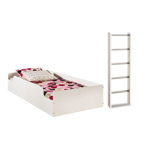 Top bunk as toddler twin bed frame to keep it low to the for Low to ground beds