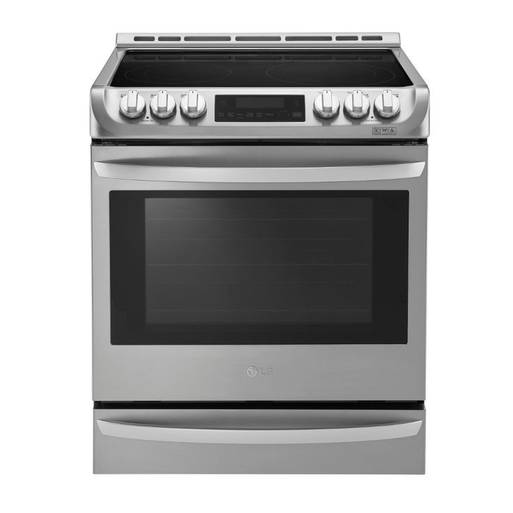LG Smooth Surface 5-Element Slide-in Convection Electric Range (Stainless Steel) (Common: 36-in; Actual 29.9375-in)