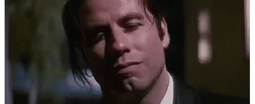 John Travolta dans Pulp Fiction de Quentin Tarantino