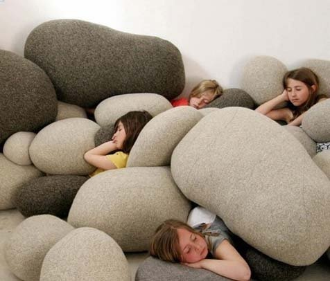 Really cool pillows. The coffee shop in town has them, but they got trashed within a short time!
