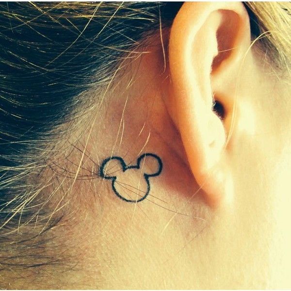 Hidden Mickey tattoo ❤ liked on Polyvore featuring accessories, body art, tattoos and ink/tattoos