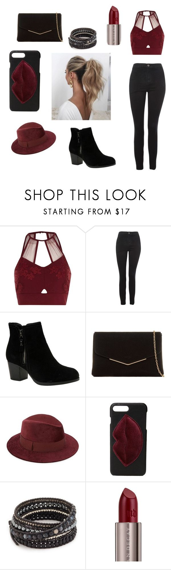 """Soirée"" by louncresaux on Polyvore featuring mode, River Island, Topshop, Skechers, KoKo Couture, Saks Fifth Avenue, Kendall + Kylie, Love Couture, Chan Luu et Urban Decay"