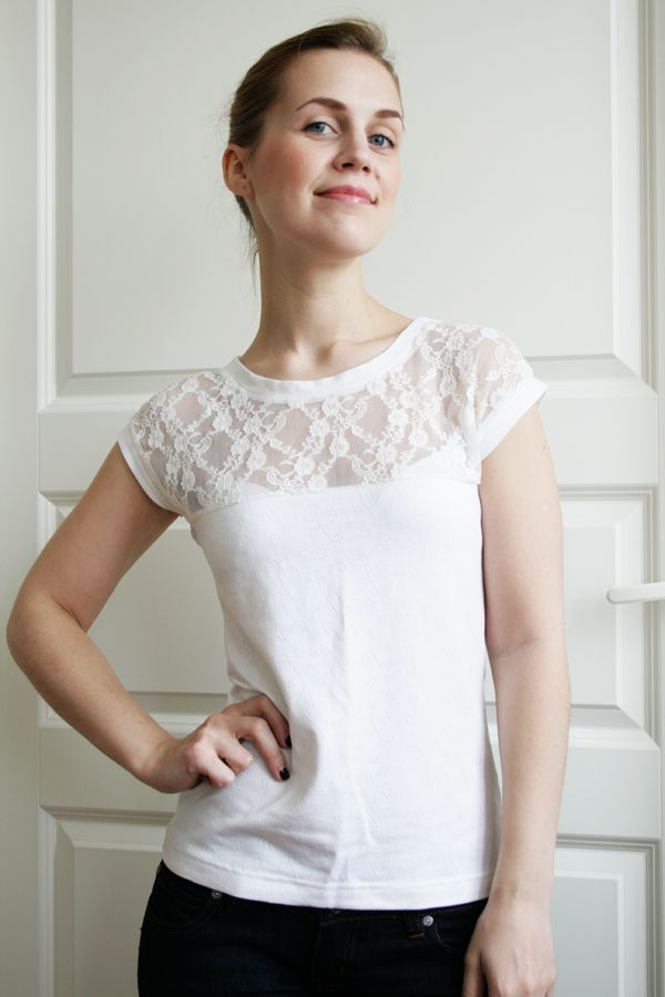 DIY Lace Top. Free tutorial.