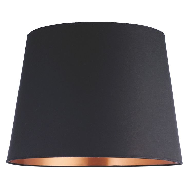 GRANDE Black/copper large tapered lampshade D51 x H36cm | Buy now at Habitat UK