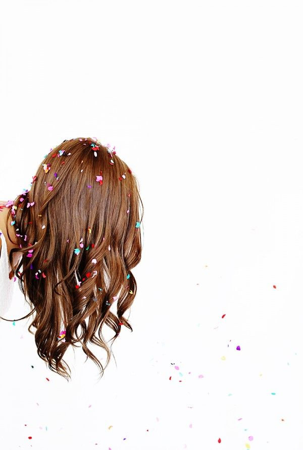Confetti waves take 'party hair' to a whole new level. #beauty #hair