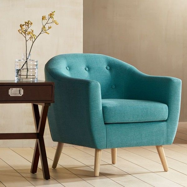 teal color furniture. rockwell teal upholstered accent chair 495 bam liked on polyvore featuring home color furniture