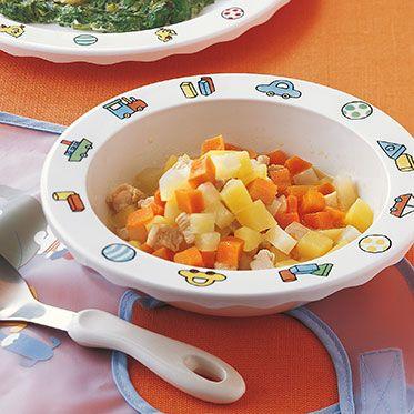 Kartoffeln mit Kohlrabi und Huhn Rezept | Küchengötter